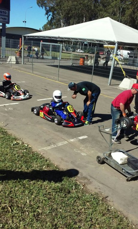 Eduardo Boessio no Kart