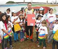 Boessio participando do Truck Kids